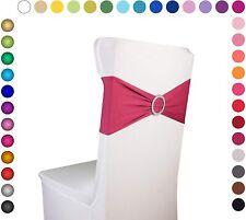 "Razbees Wedding Chair Sash Covers 6""x14"" - 100 Pc - Stretchy Spandex - Burgundy"