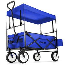 Deuba Faltbar Bollerwagen mit Abnehmbarem Dach - Blau (102249)