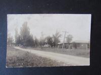 1923 RPPC Postcard Bear Lake Michigan Manistee County Roadside Residential View