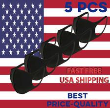 5 pieces  pcs 5 Black Face Mask Reusable Washable Protective Mouth Spandex Masks