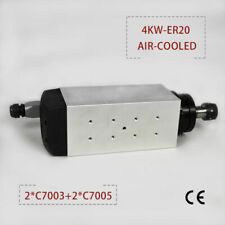 4kw Square Air Cooled Spindle Motor Er20 Four Bearing For Cnc Router Engraving