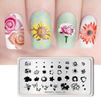 BORN PRETTY Stamping Plates Rectangle Nail Art Stamp Template Overprint L001