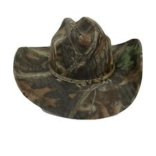Western Cowboy Hat Camo Double S Advantage Timber Size 7 3/8 Adult Canvas