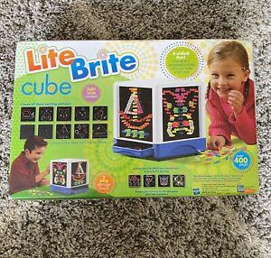 Rare Hasbro Lite Brite Cube Over 400 Pegs & 4 Sides of Fun Vintage 2006