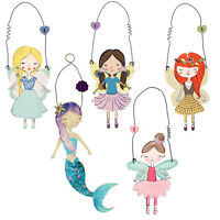 Fairy Door Hanger Colourful Bedroom Hanging Decoration Forest Fairies Family