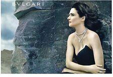 PUBLICITE ADVERTISING  2012  BULGARI  collection bijoux (2 pages)