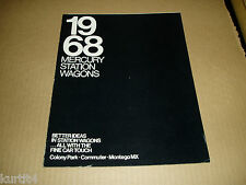 1968 Mercury Montego Commuter Colony Park wagon stationwagon sales brochure
