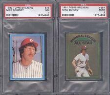 Topps Mike Schmidt Philadelphia Phillies Lot Baseball Cards