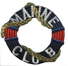 """2-3/4"""" Embroidery Iron On Marine Club Applique Patch"""