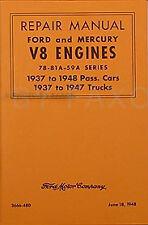 Ford 221 239 V8 Engine Shop Manual 1937 1938 1939 1940 1941 1942 1946 1947 1948
