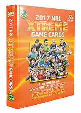 NRL 2017 Xtreme Game Cards Album BRAND