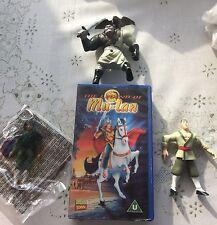 McDonalds Mulan Toy Collection 1 En parfait état, dans sa boîte et vidéo VHS L @ @ K Freepost UK