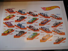 USA SHEET SCOTT# 5325 2018 HOT WHEELS: MACH SPEEDER FULL SHEET 20 MINT