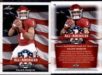 2020 Leaf Draft All American #75 Jalen Hurts