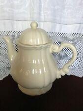 Sarreguemines cream ware coffee pot 23 cm tall
