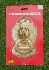 Guard No.164 Zinc Alloy Lion head door knocker with brass door viewer