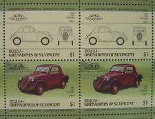 1936 FIAT TOPOLINO Car 50-Stamp Sheet / Auto 100 Leaders of the World