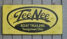PRIMITIVE VINTAGE TEE NEE BOAT TRAILER REPLICA TRADE SIGN