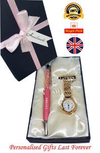 Personalised Nurse Gift Fob Watch Custom Pen Student Nurse Gift Doctor Gift