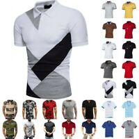 Men Polo Shirts Summer Short Sleeve Slim Fit T-Shirt Golf Sport Casual Tops Tee