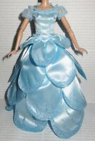 EVENING C ~ DRESS ~ MATTEL BARBIE DOLL WICKED GLINDA BLUE LAYERED WITCH GOWN