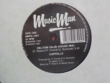 "CAPPELLA HELYOM HALIB (REMIX) CLASSIC 1989 DANCE ITALO HOUSE 7"" VINYL"