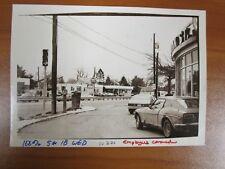 Vtg Glossy Press Photo Natick MA Oak Street Pharmacy Gulf Gas Station 3/09/82