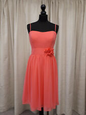 Alfred Angelo 7206 prom, party, bridesmaid dress in coral in size 14