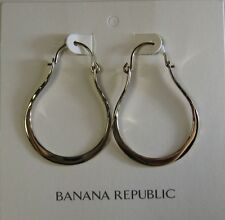 Banana Republic Hammered Hoop Earrings NWT $38 Gold