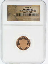2010 S Lincoln Cent Shield Proof NGC PF 69 RD Ultra Cameo Lincoln Label Penny 69