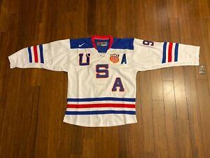 New NIKE Team USA Large Hockey Jersey Zach Parise 2014 Sochi Olympics NHL