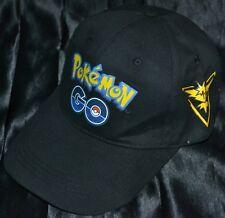 Team Instinct Pokemon Go Trainer Hat Yellow Baseball Ball Cap Legendary Zapdos