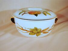 Royal Worcester England Evesham Gold Round 8in Covered Casserole w/Lid Excellent