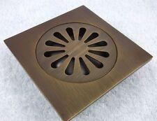 Antique Brass Made Shower Drain Floor Waste Grate 3D11F