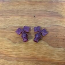 SCHWINN TIRE FLAG VALVE CAPS GLITTER VIOLET FOR GRAPE KRATE AND OTHERS
