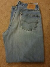 Levi's Men's 550 Ripped Relaxed Fit Light Blue Wash Jeans W35/L32