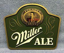Vintage NOS Miller Ale Plastic Bar Sign Cash Register Sign, Excellent Condition!