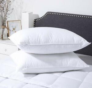 Premium Department Store Bounce Back Hollowfibre Pillow Pair - UK Made!