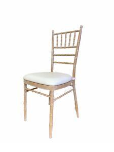 New Limewash Chiavari Chairs with Seat Pads, Limewash wedding chairs - Banquet