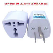 Universal EU UK AU to US USA Canada AC Travel Power Plug Adapter Converter New
