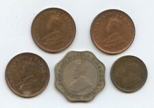 India British 5 misc. coins (#1553) 1/12 Anna, 3 pice & one  4 Annas.