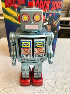 ROBOT 2000 the Millennium Robot - Schylling Collectible w/ Box (1997) IT WORKS!