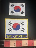 Martial Arts Patch TAE KWON DO + SOUTH KOREA FLAG Patch  01RN