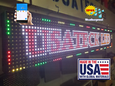 "Full Color 38""x6.5""  LED Sign Industrial Version  (Made & Ship from USA)"