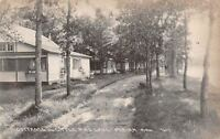 Perham Minnesota~Cottages on Little Pine Lake~Dirt Road~1922 Real Photo~RPPC