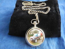RANGE ROVER (2) CHROME POCKET WATCH WITH CHAIN (NEW)