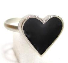 Ring SoHo® schwarzes Herz silber Kunstharz schwarz SoHo