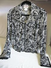 WESTERN COLLECTION STYLES ALL DAY SHOW JACKET BLACK SWIRL - LARGE