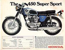 1968 Honda CB- 450 Super Sport  motorcycle sales brochure, (Reprint) $6.50