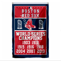 Boston Red Sox World Series Champions Flag 3X5 FT MLB Banner Polyester FAST SHIP